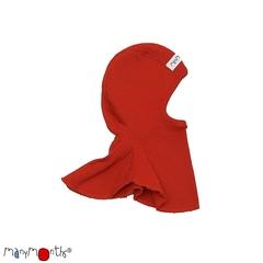Шлемик ManyMonths, Красный  (шерсть мериноса 100%)