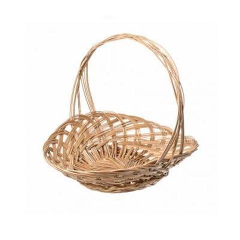Корзина плетеная Шляпа, D35,5x5xH25см, натуральный