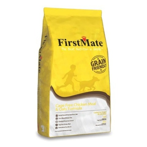 FirstMate Cage Free Chicken Meal & Oats сухой низкозерновой корм для щенков и взрослых собак с курицей и овсом 20 кг.