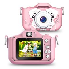 Детский фотоаппарат собачка розовый