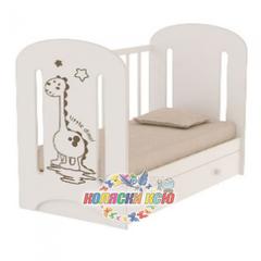 Кровать детская DINO с маятником и ящиком