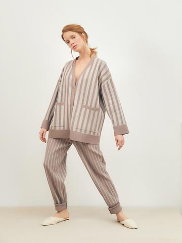Женские брюки темно-кофейного цвета из вискозы - фото 5
