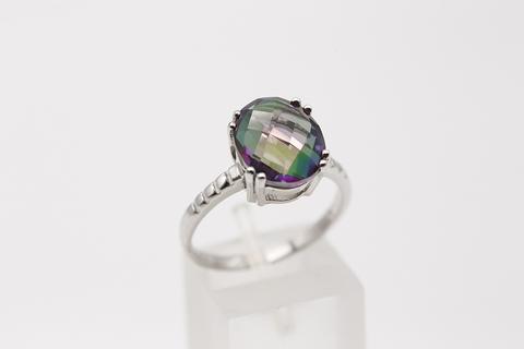 Серебряное кольцо с мистик аметистом 1410931304