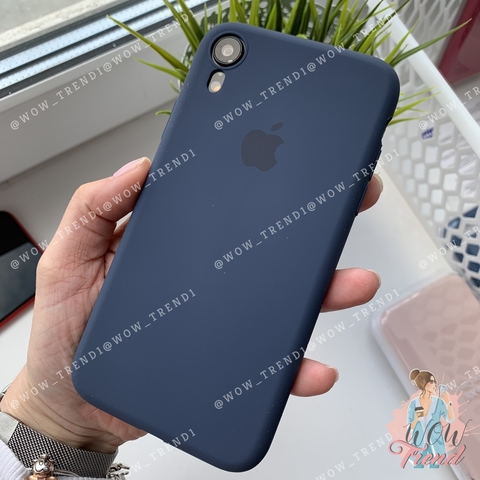 Чехол iPhone XR Silicone Slim Case /midnight  blue/