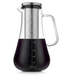 Чайник-кофейник с сетчатым фильтром 1200 мл, стеклянный