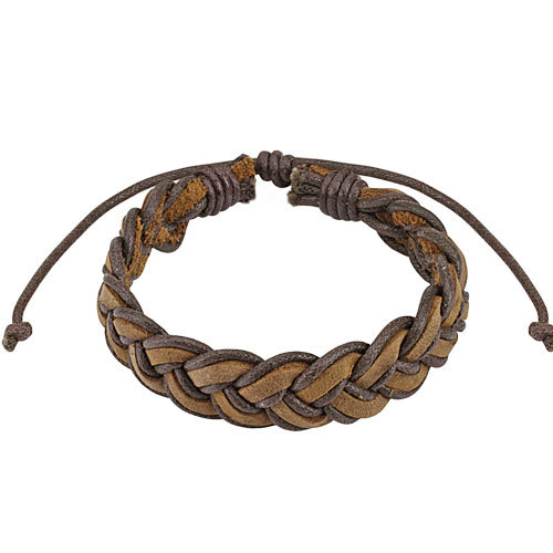 Стильный мужской браслет из натуральной кожи SPIKES SL0171