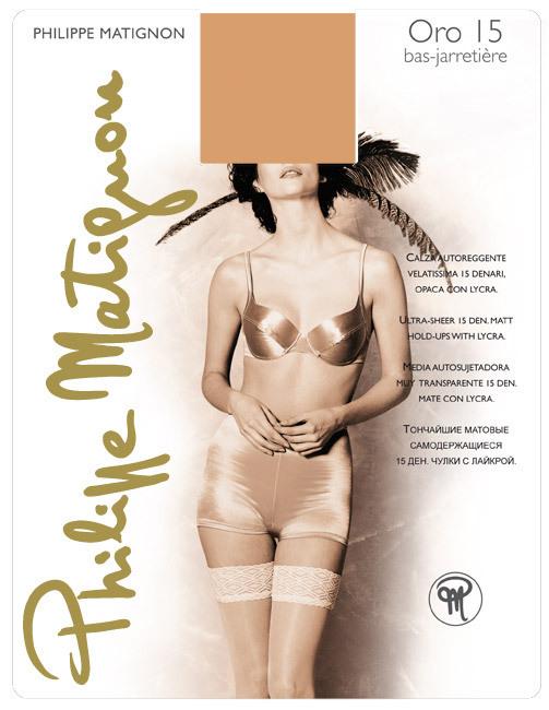 Чулки Philippe Matignon Oro Bas-Jarretiere 15