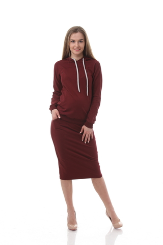 Спортивный костюм для беременных и кормящих 10508 бордовый