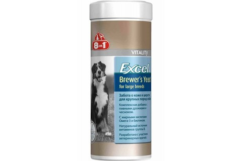 8 in 1 Brewers Yeast for larde breeds 80 таб.