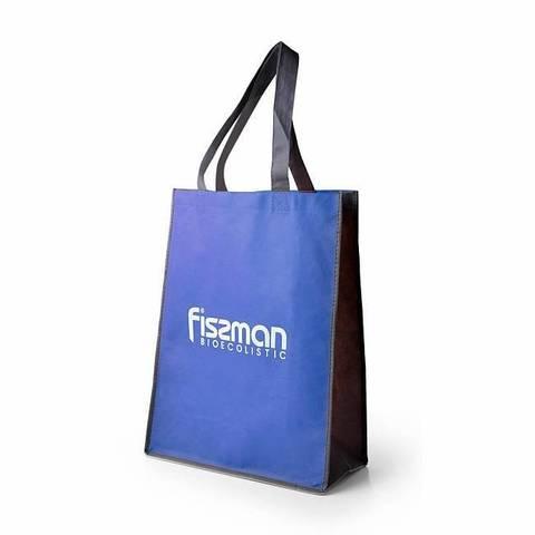 Промо-сумка 35x15x45см с логотипом Голубая