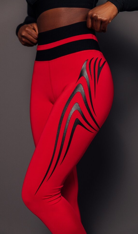 Новая модель женских компрессионных лосин Wings Red DW от компании FORSTRONG
