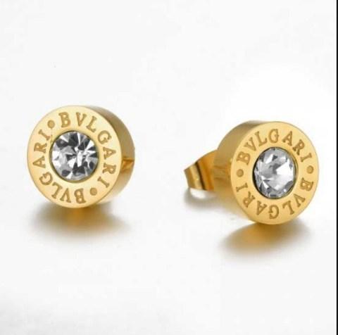 Серьги Bvlgari Gold со сменными камнями