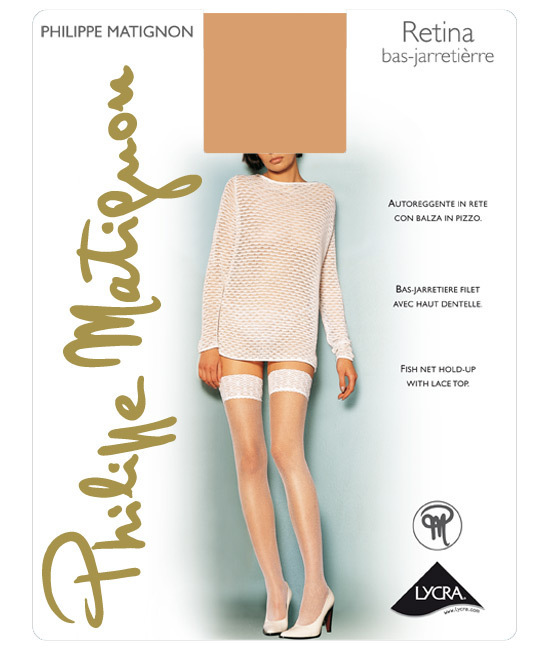 Чулки Philippe Matignon Retina Bas-Jarretiere