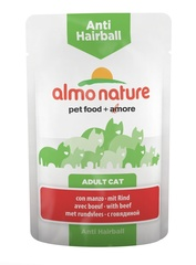 Паучи Almo Nature Functional - Anti-Hairball with Beef