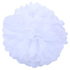 Помпон из бумаги 50 см белый