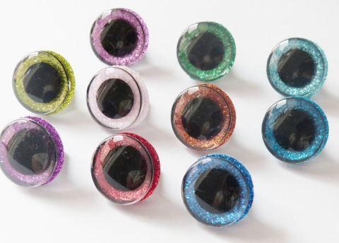 Глазки с искоркой 12 мм