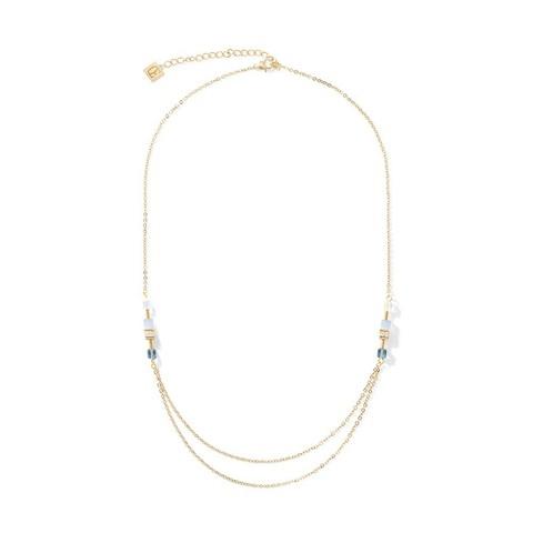 Колье Gold-Blue 5064/10-0716 цвет синий, золотой