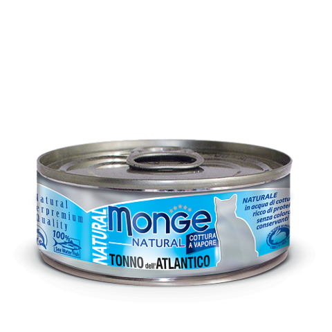 Влажный корм (банка) Monge Natural Adult Cat Tonno Dell'atlantico Atlantic Tuna