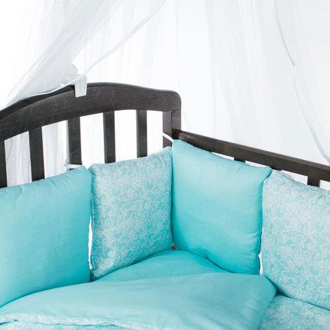 Комплект в овальную, круглую кроватку
