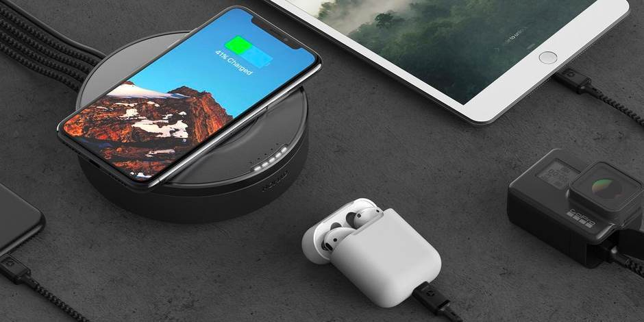 Хаб с беспроводной зарядкой Nomad Wireless Hub