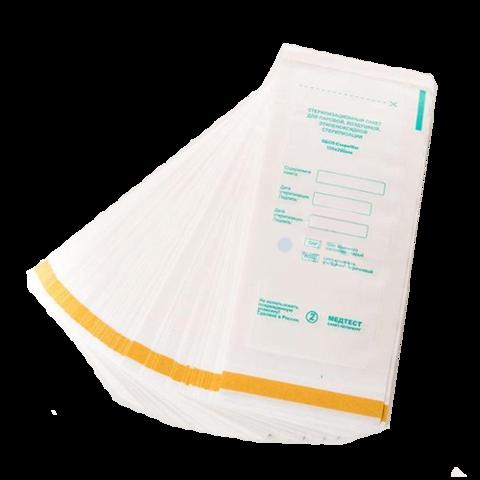 Пакет для стерилизации МЕДТЕСТ белый 100*200 100шт