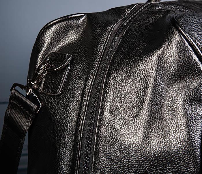 BAG521-1 Кожаная дорожная сумка с ручками и ремнем фото 05
