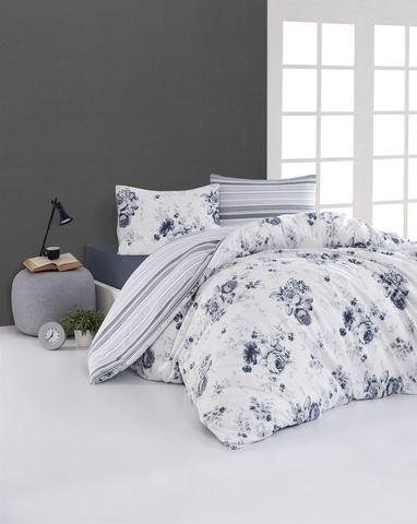 Комплект постельного белья DO&CO FLANNEL Евро (50х70/2) JADEN цвет голубой