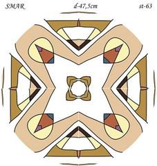 Эскиз для росписи, Круг диаметр-47,5см, SMAR-st-63
