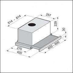 Вытяжка Korting KHP 6772 GW схема