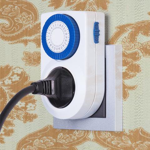 Розетка-таймер 16A x1 IP20 Белый TMH-M-3