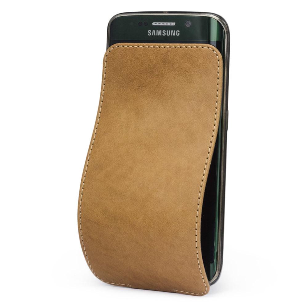 Чехол для Samsung Galaxy S6 edge из натуральной кожи теленка, цвета винтаж