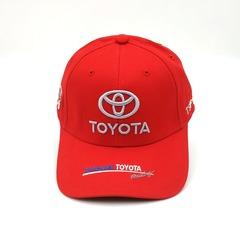 Кепка с вышитым логотипом Тойота (Кепка Toyota) красная