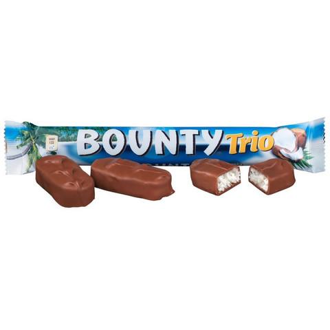 Шоколадный батончик Bounty trio 82.5 г