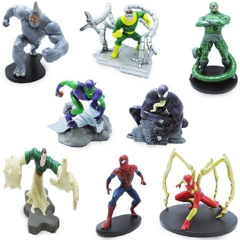 Человек-паук Делюкс Набор из 8 Фигурок