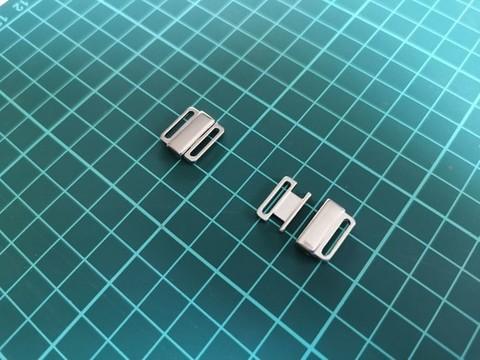 Застежка, металл, 12 мм, серебро, шт