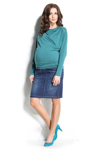 Юбка для беременных 06482 синий