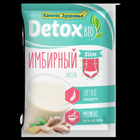 Кисель Компас Здоровья Detox Bio Slim имбирный, 10 порций