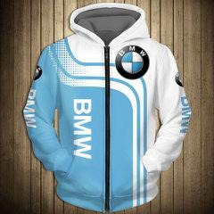 Толстовка утепленная с молнией 3D принт, BMW (3Д Теплые Худи с молнией БМВ) 02