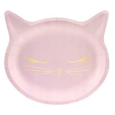 Тарелки фигурные Кошка 22 см, 6 штук