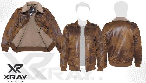 Куртка-шерпа 'Vintage Aviator' Cognac