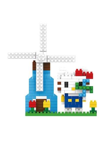 Конструктор Wisehawk & LNO Хеллоу Китти и мельница 229 деталей NO. 204 Hello Kitty and mill mini blocks