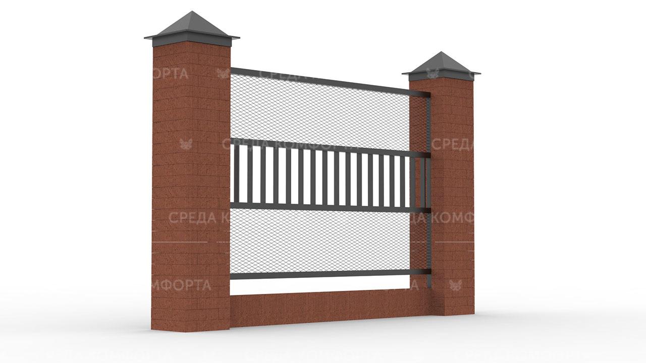 Забор из сетки рабицы ZBR0173