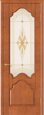 Дверь Виктория (анегри светлый, остекленная шпонированная), фабрика Покрова