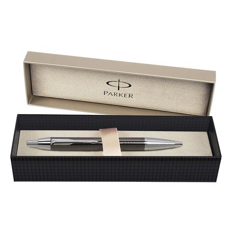 Parker IM Premium - Deep Gun Metal Chiselled CT, шариковая ручка, M