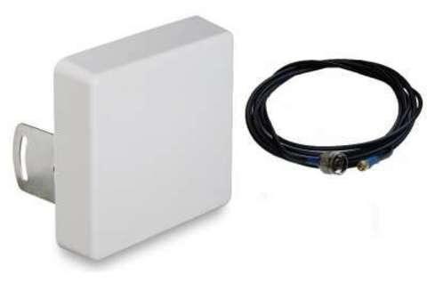 Антенный комплект усиления GSM/3G/LTE сигнала для wi-fi роутера Мультидиапазон 15 дБ