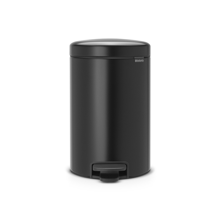 Мусорный бак newicon (12 л), Черный матовый, арт. 113741 - фото 1