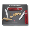 Нож My First Victorinox, 84 мм, 9 функций, полупрозрачный розовый