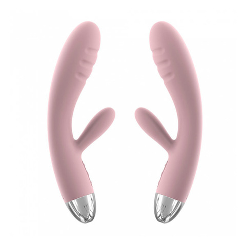 Svakom Barbara Pale Pink нежно розовый вибростимулятор со стимуляцией клитора