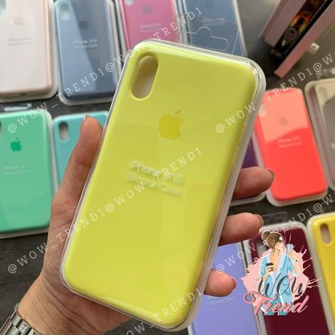 Чехол iPhone 6+/6S+ Silicone Case Full /flash/ лимонный