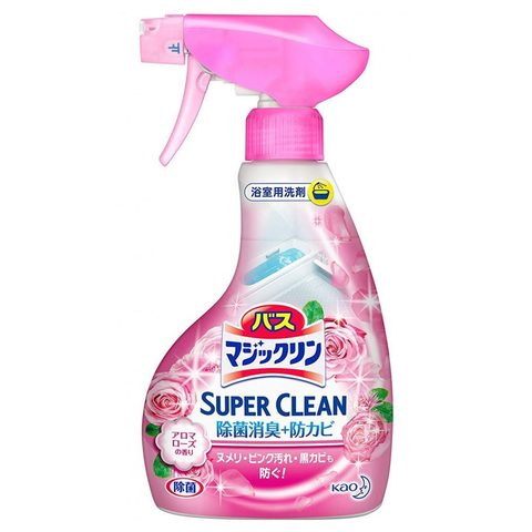 Спрей-пенка Kao Magiclean Super Clean для ванной комнаты с ароматом роз 380 мл